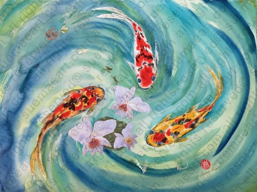 Happiness of Orchid and Koi