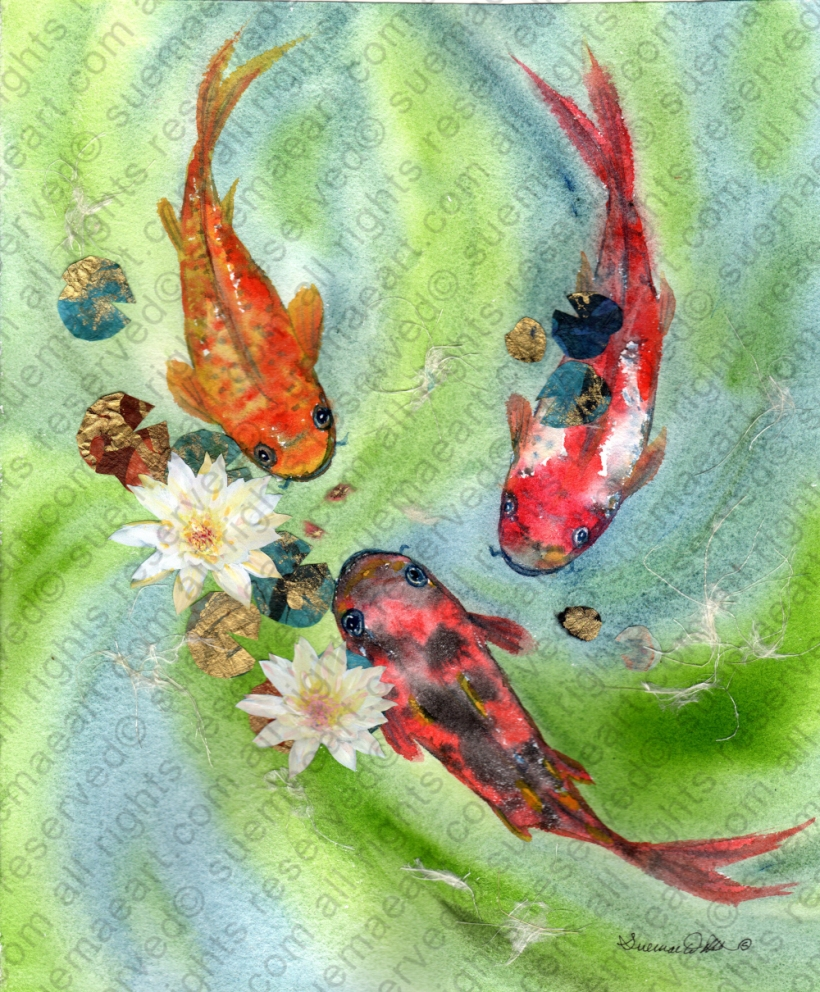 Koi and Water Lillies